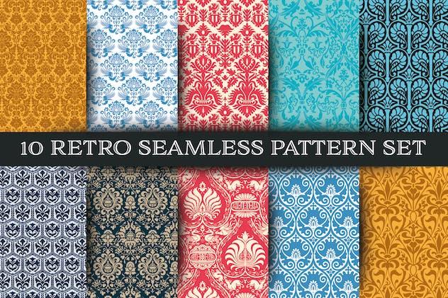 Set of 10 Seamless Pattern