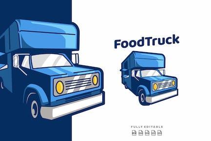 Food Truck Car Food Logo Template