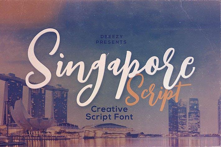 Thumbnail for Singapore Script Font