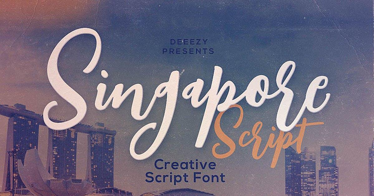Download Singapore Script Font by cruzine