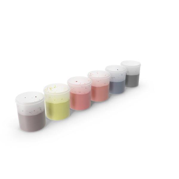 Pintura en vasos de plástico