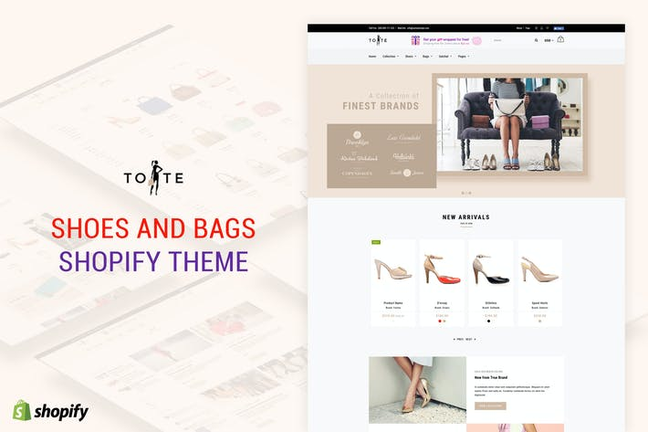 Thumbnail for Tote | Shoes and Bags Shopify theme