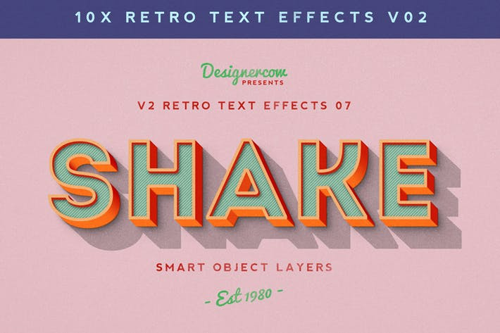 Thumbnail for Retro Text Effects V2