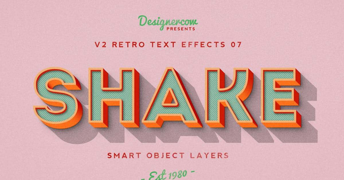 Download Retro Text Effects V2 by designercow