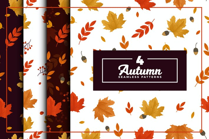 Cover Image For Autumn Seamless Pattern Collection