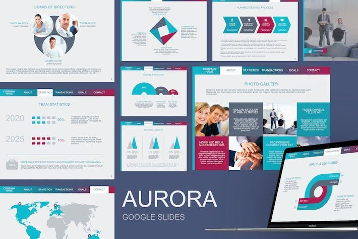 Thumbnail for Aurora Google Slides Template