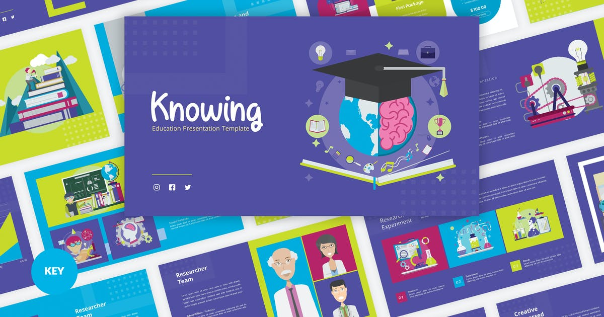Download Knowing - Education Keynote Template by Graphiqa