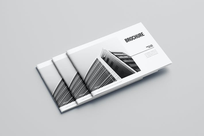 Thumbnail for Minimal Black & White Architecture Brochure