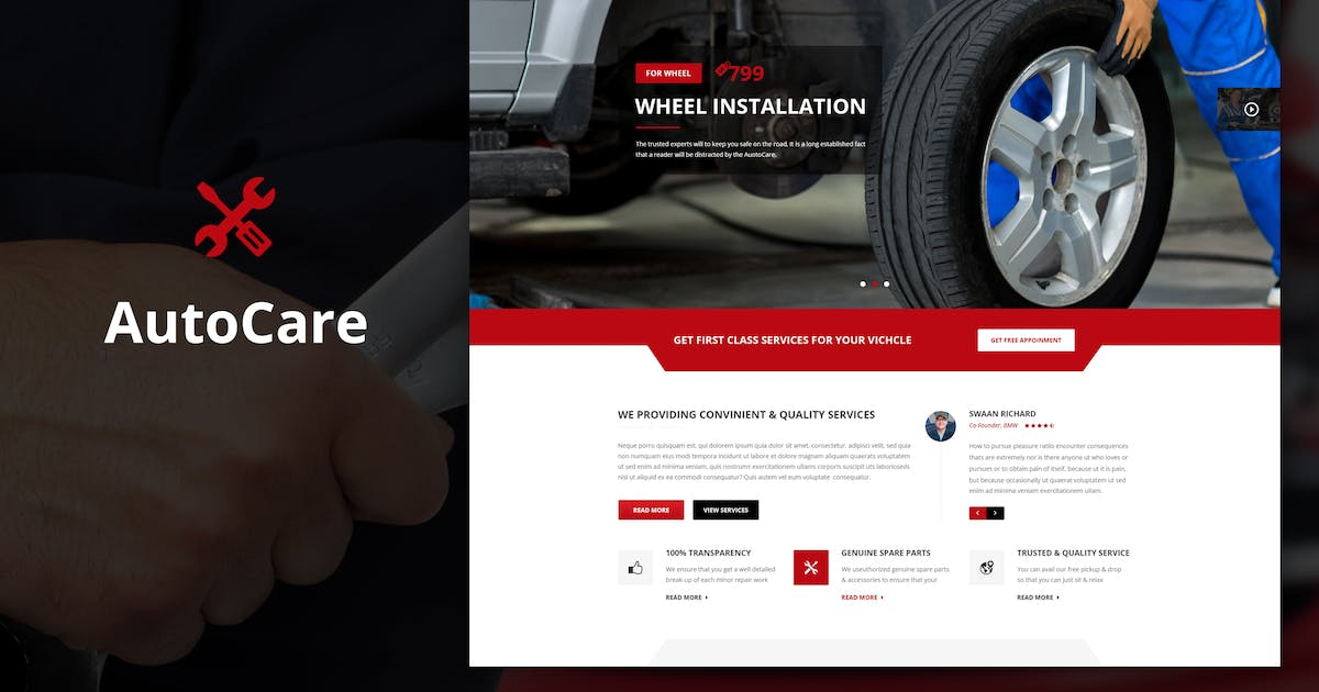 Download Auto Care - Drupal Theme for Car Mechanic by SteelThemes