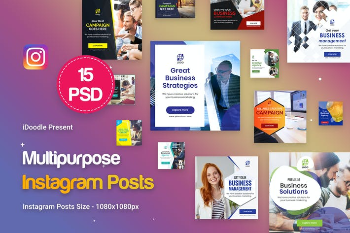 Thumbnail for Instagram Posts Multipurpose, Business Banners Ad