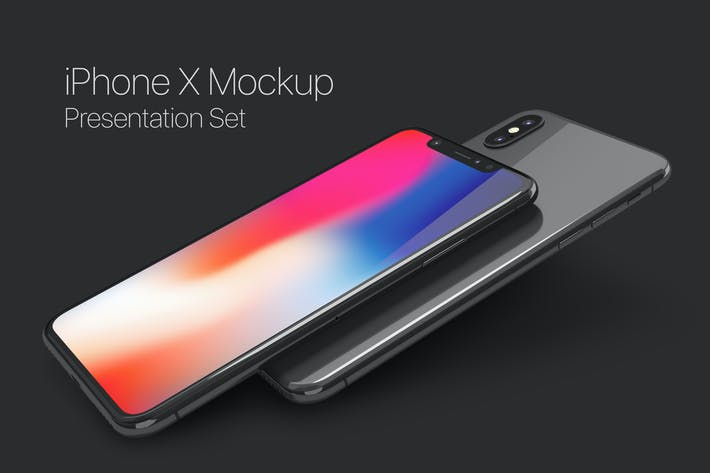 Thumbnail for iPhone X Mockup Set