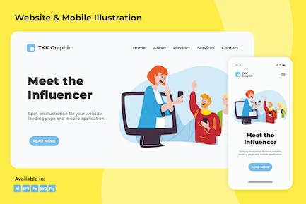 Meet the Influencer web and mobile
