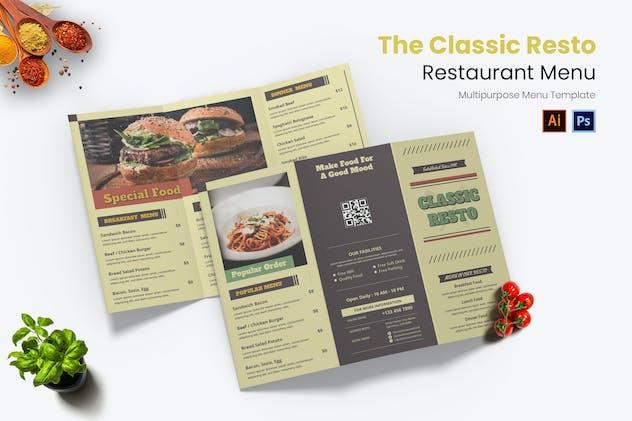 Classic Resto Restaurant Menu
