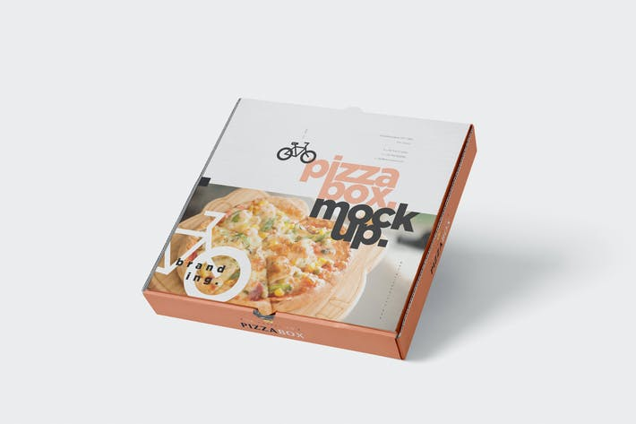 Thumbnail for Pizza Box Mock-Up - Grocery Store Edition