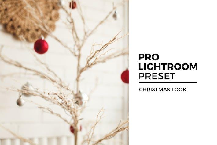 Рождественский взгляд Lightroom предустановки