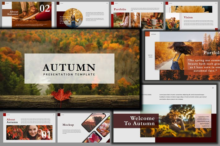 Thumbnail for Autumn Unique - Beautiful Creative Powerpoint