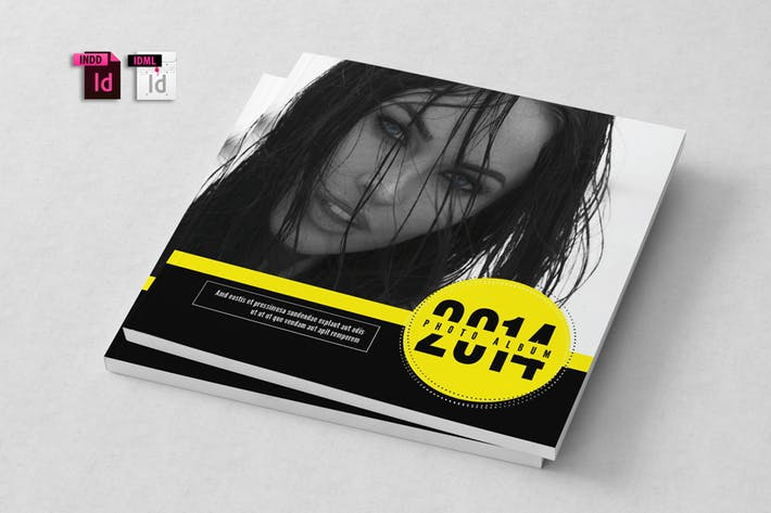 Cover Image For Photo Album Indesign Template