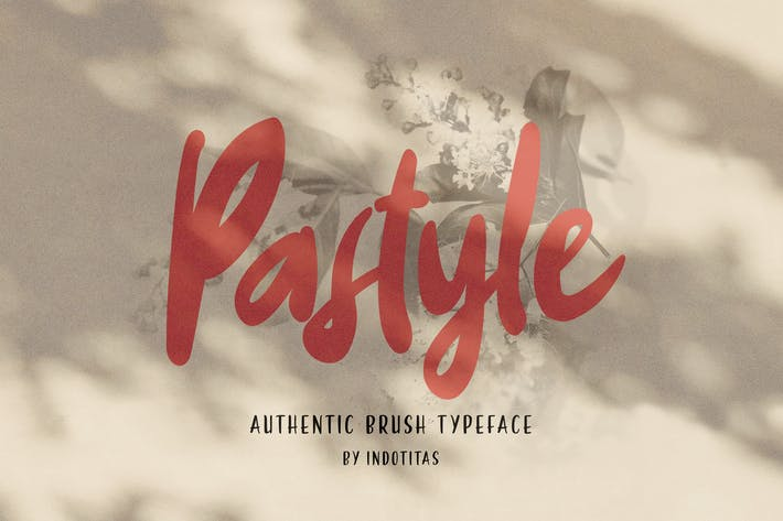 Thumbnail for PASTYLE - Authentic Brush Typeface
