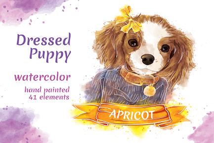 Puppy - 41 Watercolor for Adobe Illustrator