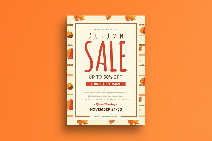 Thumbnail for Autumn Sale Flyer