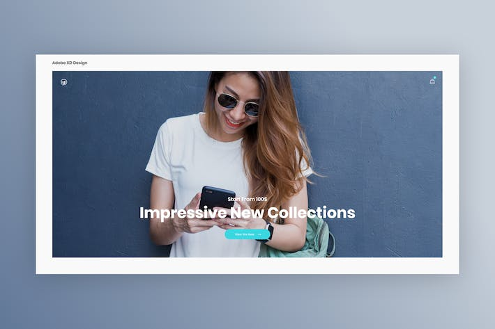 Thumbnail for Ecommerce Landing Page - Adobe XD