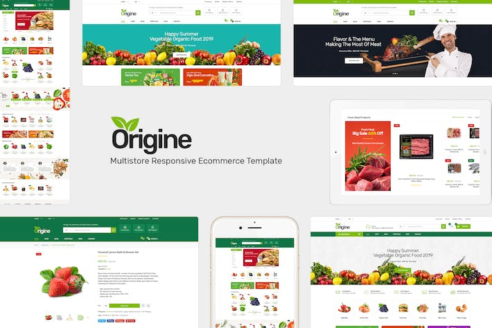 Thumbnail for Origine - Organic Prestashop Tema