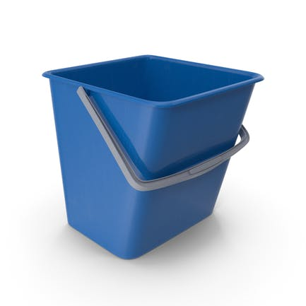 Square Cleaning Bucket Blue
