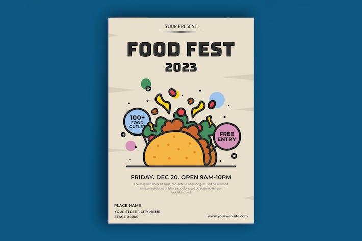 Poster zum Lebensmittelfest