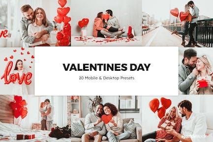 20 Valentines Day Lightroom Presets & LUTs