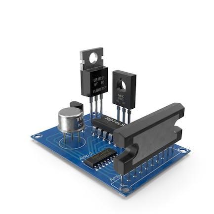 Активные компоненты электроники на печатной плате