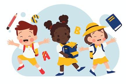 Back to School - Kindergarten Illustration