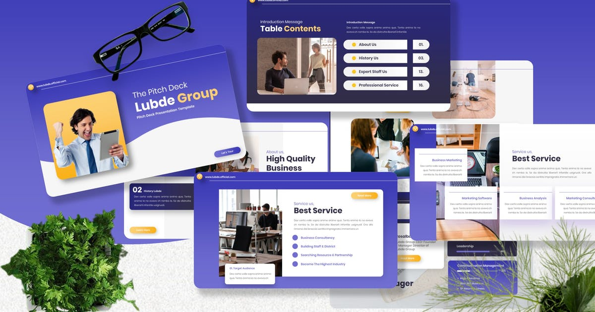 Download Lubde - Pitch Deck Powerpoint Template by Yumnacreative