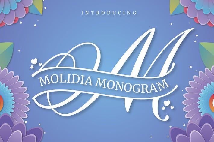 Thumbnail for MOLIDIA monogram font