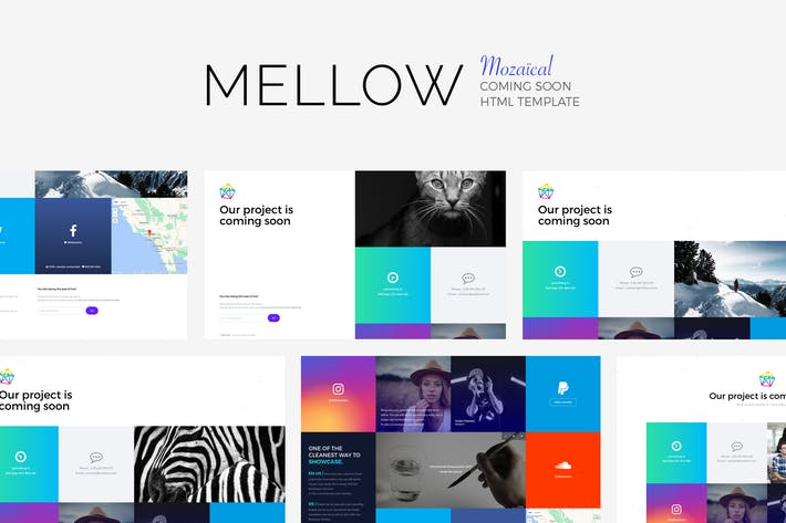 Cover Image For MELLOW - Mozaïcal Coming Soon Template