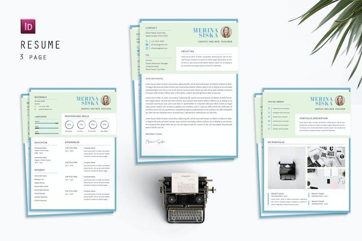Thumbnail for Merina Siska Resume Designer