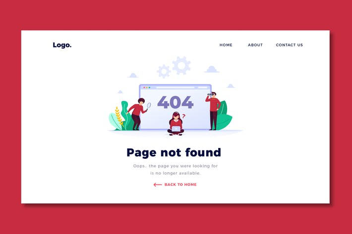 Thumbnail for Error 404 - Landing Page Template