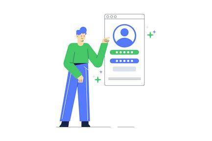 User Profile Details Illustration