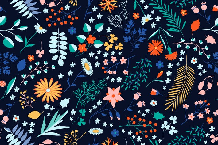 Thumbnail for Winter Floral Pattern