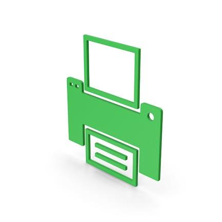 Symbol Printer Green