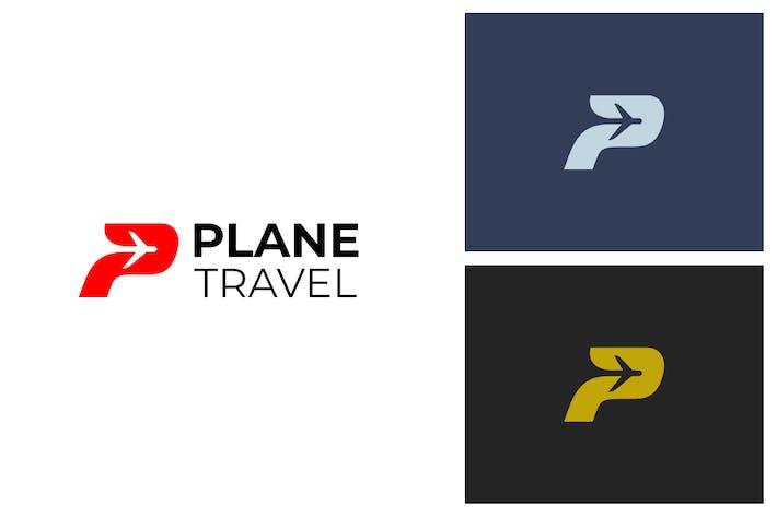Thumbnail for Plane P Letter Logo