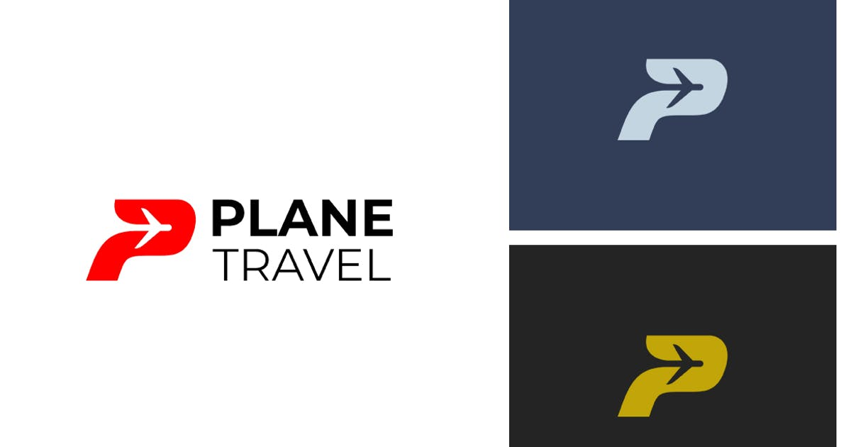 Download Plane P Letter Logo by sagesmask