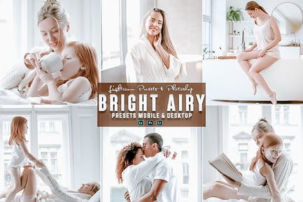 Bright airy Photoshop Action & Lightrom Presets