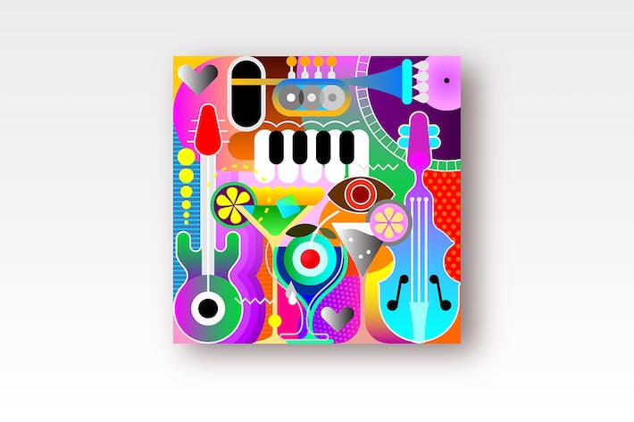 Thumbnail for Musical Design vector artwork