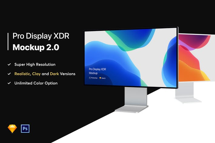 Thumbnail for Apple Pro Display XDR Mockup 2.0