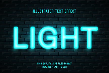 Light on brick wall text effect
