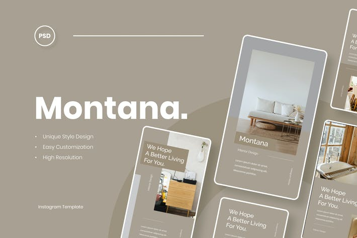 Thumbnail for Montana - Interior Instagram Stories Template