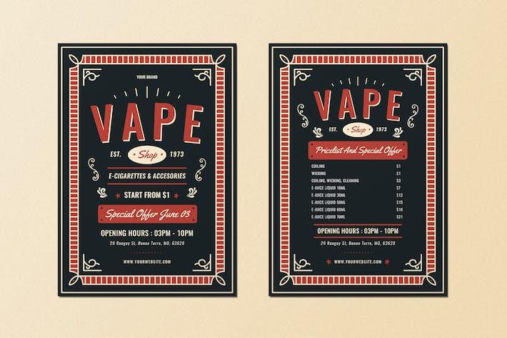 Vape Shop Flyer Menü