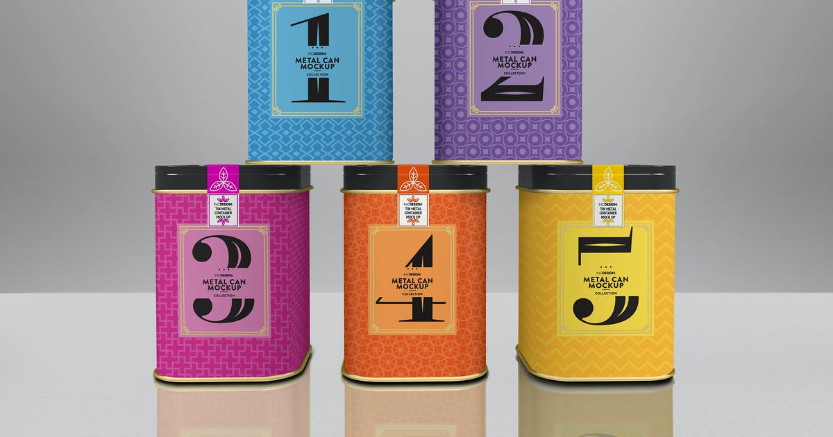 Download Square Tin Cans Packaging Mock Up Vol.2 by ina717