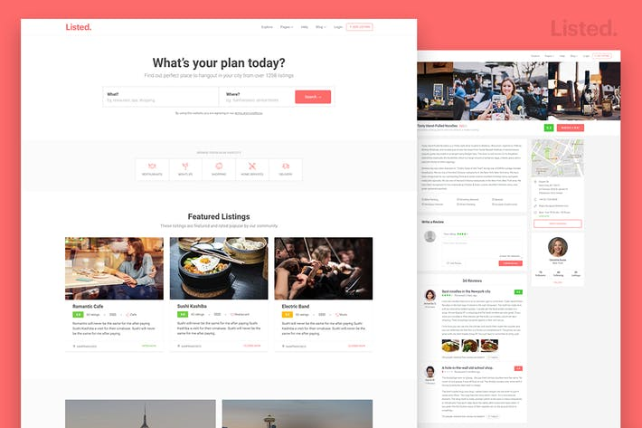 Thumbnail for Directory & Listing HTML Website Template - Listed