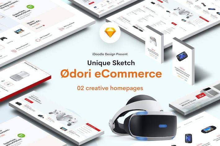 Thumbnail for Odori - MarketPlace, Electronics Sketch Template